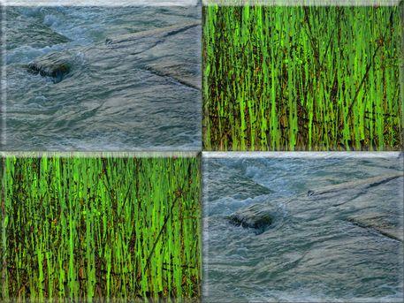 """'ViererGlaskachel """"Schilfgras mit Wasser""""' von Rudolf Büttner bei artflakes.com als Poster oder Kunstdruck $18.71"""
