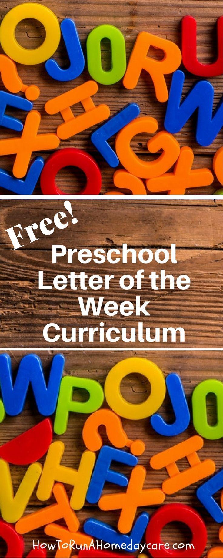 Preschool Letter of the Week Program - Free