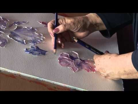 How to create a texture in acrylic, Impasto - Working with colours, Part 2, Svetlana Kanyo - YouTube