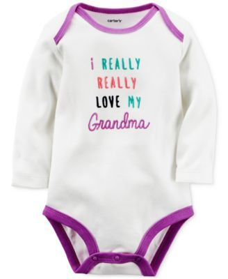 Carter's Baby Girls' I Really Love My Grandma Long-Sleeve Bodysuit