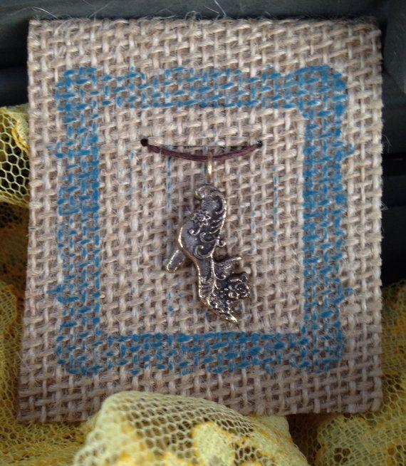 Cast Bronze Shoe Charm Necklace
