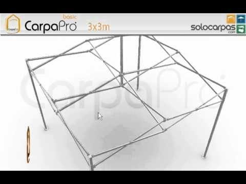 Carpas plegables CarpaPro™ Basic 3x3 m : Carpas plegables Barcelona : ww...