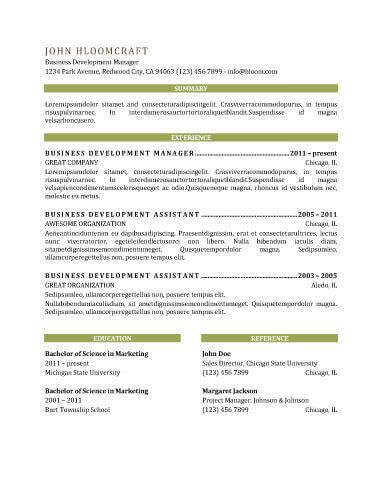 7 best resume templates images on Pinterest Free resume - chronological resume