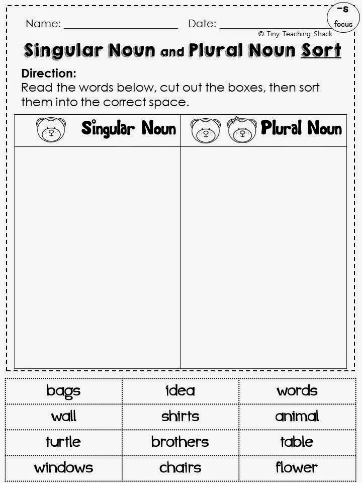singular and plural noun common core practice for 1st and 2nd graders  -s endings -es endings -ies endings -ves endings irregular plural nouns
