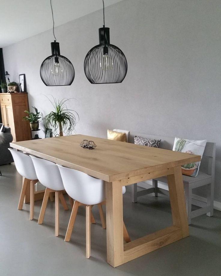 #kwantuminhuis Hanglamp DIANA > https://www.kwantum.nl/verlichting/hanglampen en stoel NEW YORK > https://www.kwantum.nl/meubelen/stoelen @jelliebean72