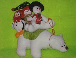 Molde Oso polar y muñecos de nieve