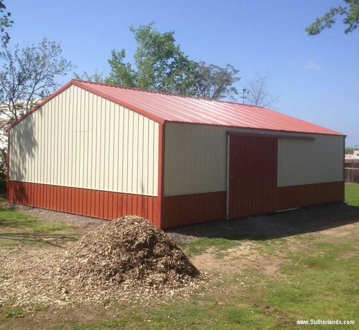 all the post delbarn barn fully pole enclosed frame with building and deluxe packages are barns metal come sutherlands parts