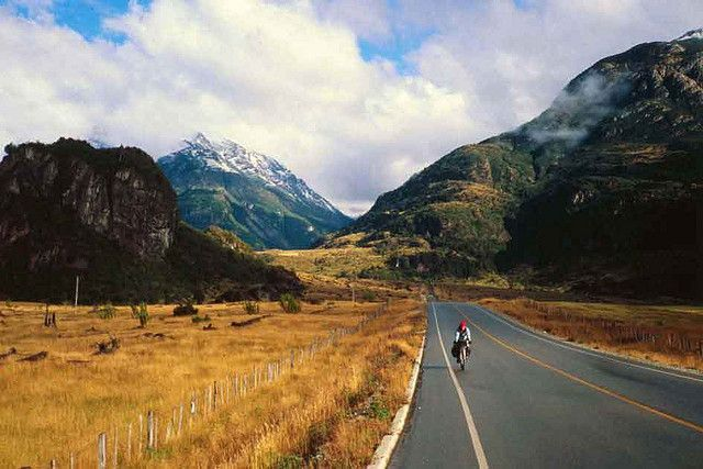 "Carretera Austral: ""A long lonely road through the pioneer country, between thick wet rainforest and the icecaps that cut off the far south of the country -- this is an experience like no other."" Chile Highlights www.bradtguides.com"