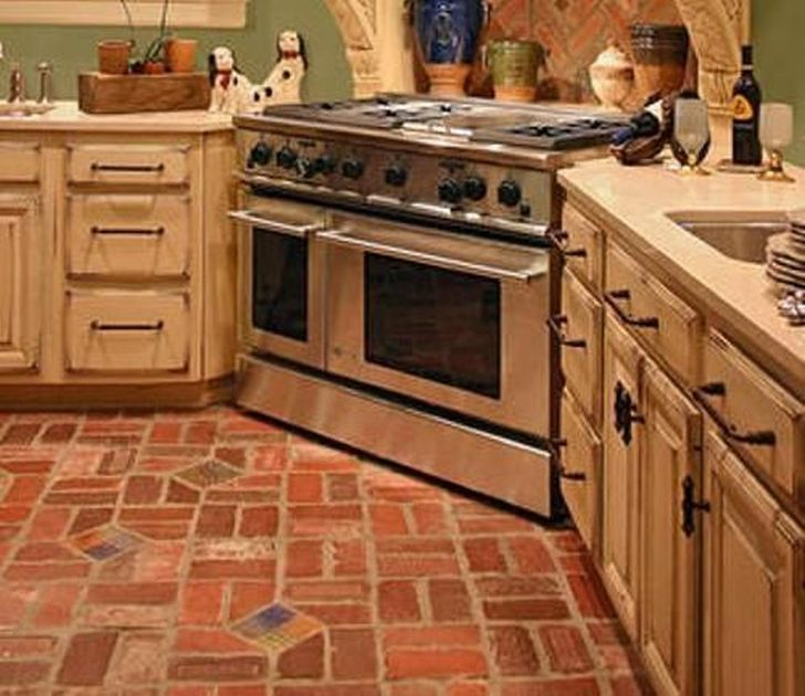 Brick Flooring French Country Kitchen Design : Classic French Country  Kitchen Design U2013 The Kitchen Dahab