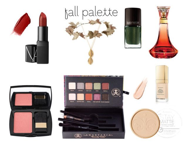 My Fall Palette & Accessories by blondieau on Polyvore featuring beauty, Anastasia Beverly Hills, Lancôme, Dolce&Gabbana, Rimmel, NARS Cosmetics, Hourglass Cosmetics, Laura Mercier, eliurpi and Forever 21