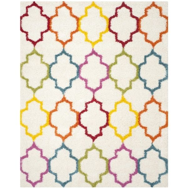 Radiance Kids Dotted Striped Shag Rug Contemporary Rugs Kids Rugs Rectangular Rugs