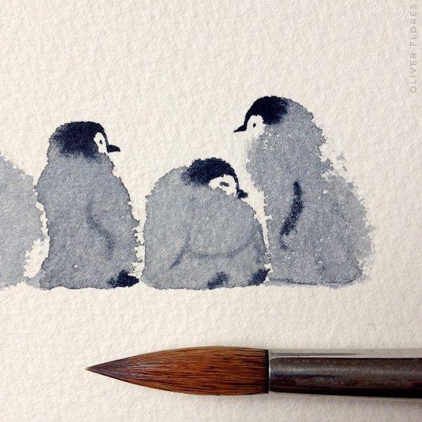 penguins on Behance