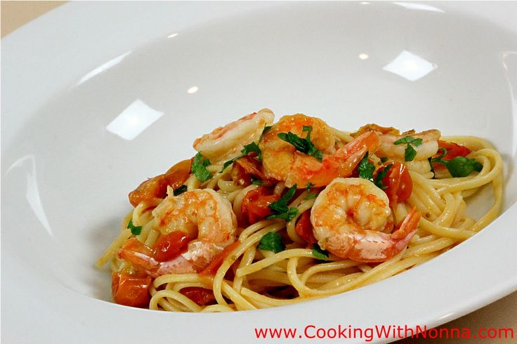 LInguine with shrimp sauce:  I'll use angel hair and unsalted chicken broth and lemon juice for the wine.
