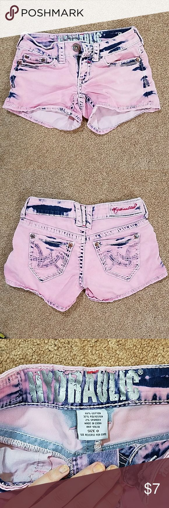Hydraulic Bailey pink acid wash shorts No stains, rips or pilling. Size 0 Hydraulic Shorts