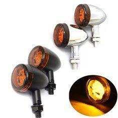 2pcs Motorcycle LED Skull Indicator Turn Signal Lights Aluminum Lamp For H …  – Schönes Motorrad