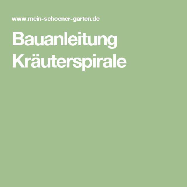 Bauanleitung Kräuterspirale