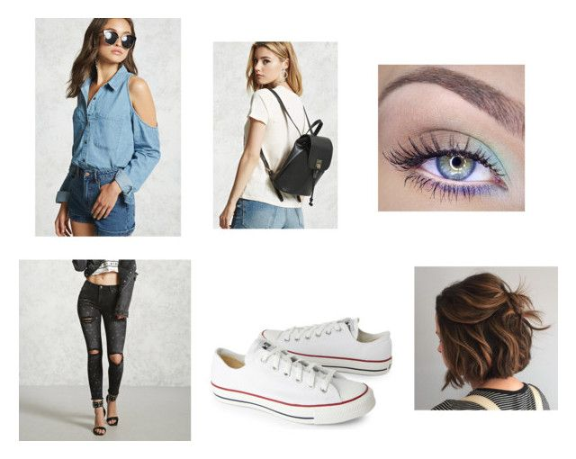 """Untitled #85"" by rosiepotter on Polyvore featuring Forever 21 and Converse"