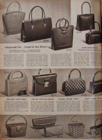 1958 Daytime Purses, 1950s leather  handbags