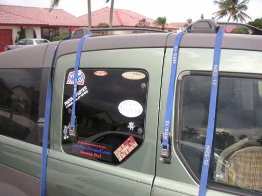 How to Strap Your Canoe or Kayak to a Roof Rack: Lay the Kayak Straps Over the Bars of the Roof Rack