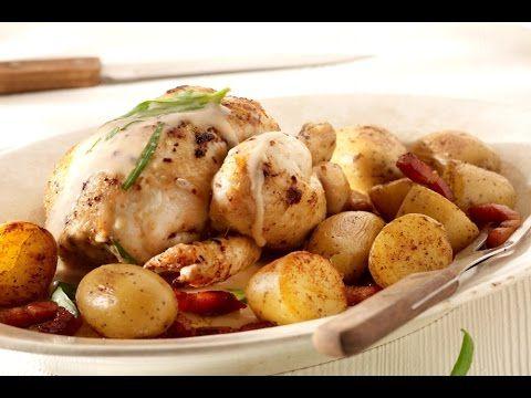 Recept 'Piepkuiken uit de oven met dragonsaus' | njam!