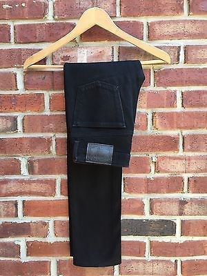 39.99$  Watch now - http://vibdy.justgood.pw/vig/item.php?t=uvi4xlx11807 - ANNA SUI Black 5 Pocket Pants Jeans Straight Skinny 0 25 26 Anthropologie! RARE! 39.99$