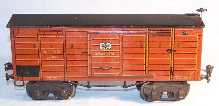 Märklin 2926, seltener 4achsiger Gepäckwagen, Spur 1, 1915 (33165)
