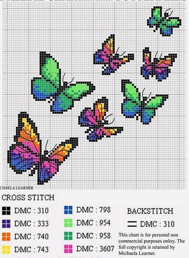 Cross stitch pattern Butterflies