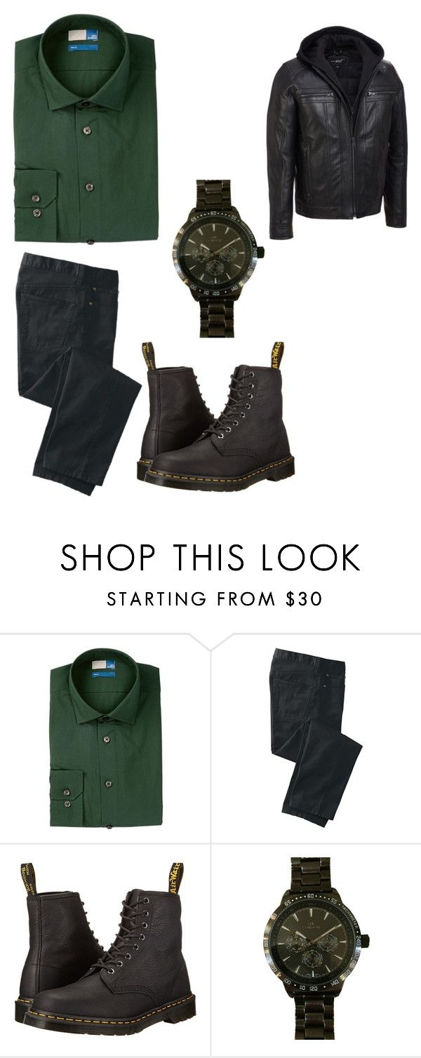 """""""Mama Smoak Oliver"""" by sara-scott-i on Polyvore featuring 14th & Union, TravelSmith, Dr. Martens, Roial, men's fashion and menswear"""