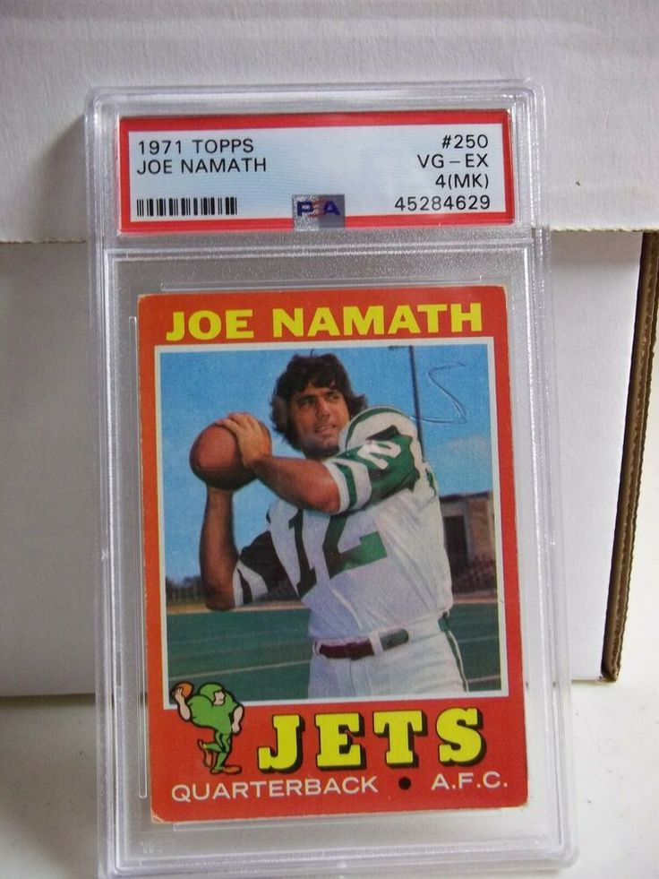 joe namath football card worth