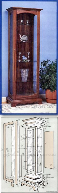 Curio Cabinet Plans - Furniture Plans and Projects   WoodArchivist.com