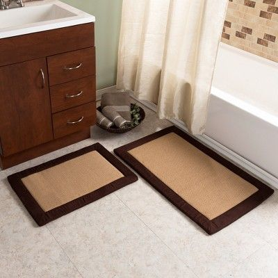 Solid Bath Mat Set 2pc Chocolate (Brown) - Yorkshire Home - Yorkshire Home