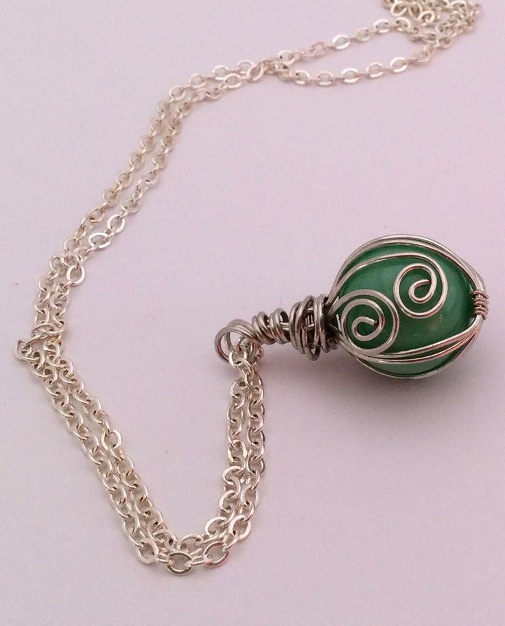 Pale green globe pendant. Check out www.facebook.com/bluefizz