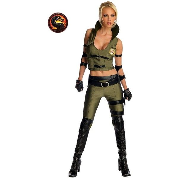 Mortal Kombat Sonya Blade Adult Costume for Women ($60) ❤ liked on Polyvore featuring costumes, halloween costumes, multicolor, women warrior costume, adult women costumes, sexy costumes, ladies halloween costumes e womens costumes
