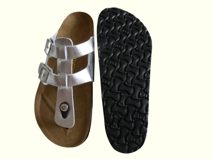 Birkenstock Outlet: Birkenstock Sparta Sandals Silver Patent