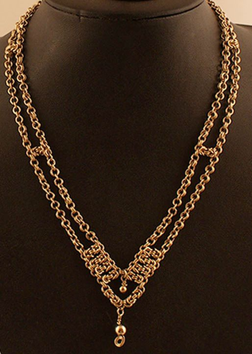 Gold, necklace
