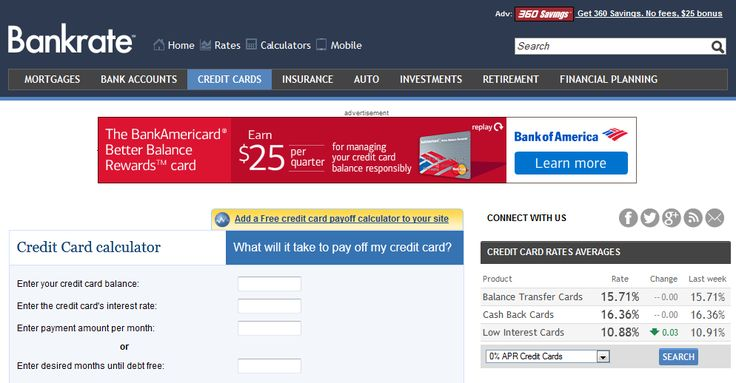 This Bankrate calculator shows how long it will take you to pay - credit card payoff calculator