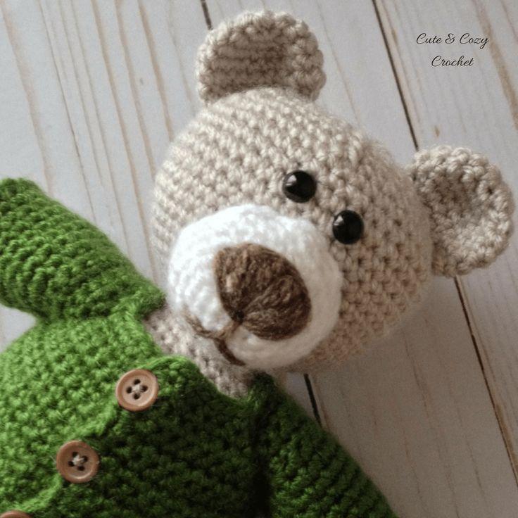 Fantástico Crochet Oso De Peluche Patrón Suéter Friso - Ideas de ...