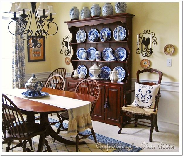Confessions of a plate addict home tour spode blue room Blue and yellow dining room
