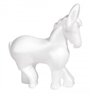 Styropor-Esel, 12,5x14,5 cm