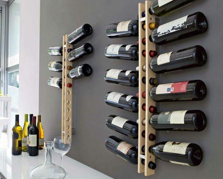 25+ best ideas about weinregal ton on pinterest   holzspulen ... - Weinregal Design Idee Wohnung Modern Bilder