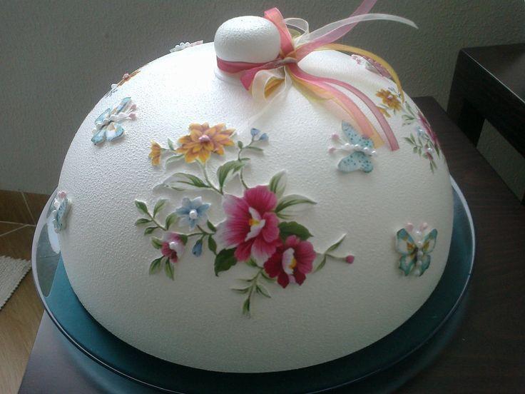 sipariş olarak yaptığım kek fanus hamur kabartma cam boyama arkadaşım güle güle kullansın. nurcan cüceoğlu emeksensin.com/nurcandesign