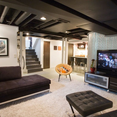 23 best split level interiors images on pinterest for Bi level basement ideas