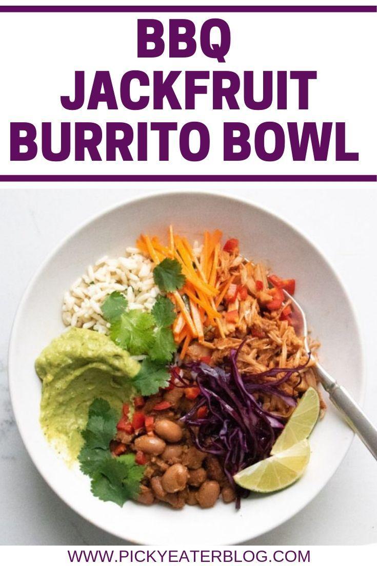 This Bbq Jackfruit Burrito Bowl Recipe Is Guaranteed To Satisfy Vegetarians Vegans And Meat Vegetarian Recipes Dinner Healthy Bbq Jackfruit Jackfruit Burrito