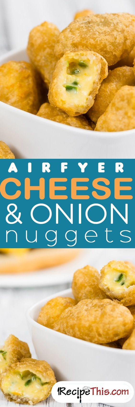 #AirfryerRecipes | Airfryer Cheese & Onion Nuggets