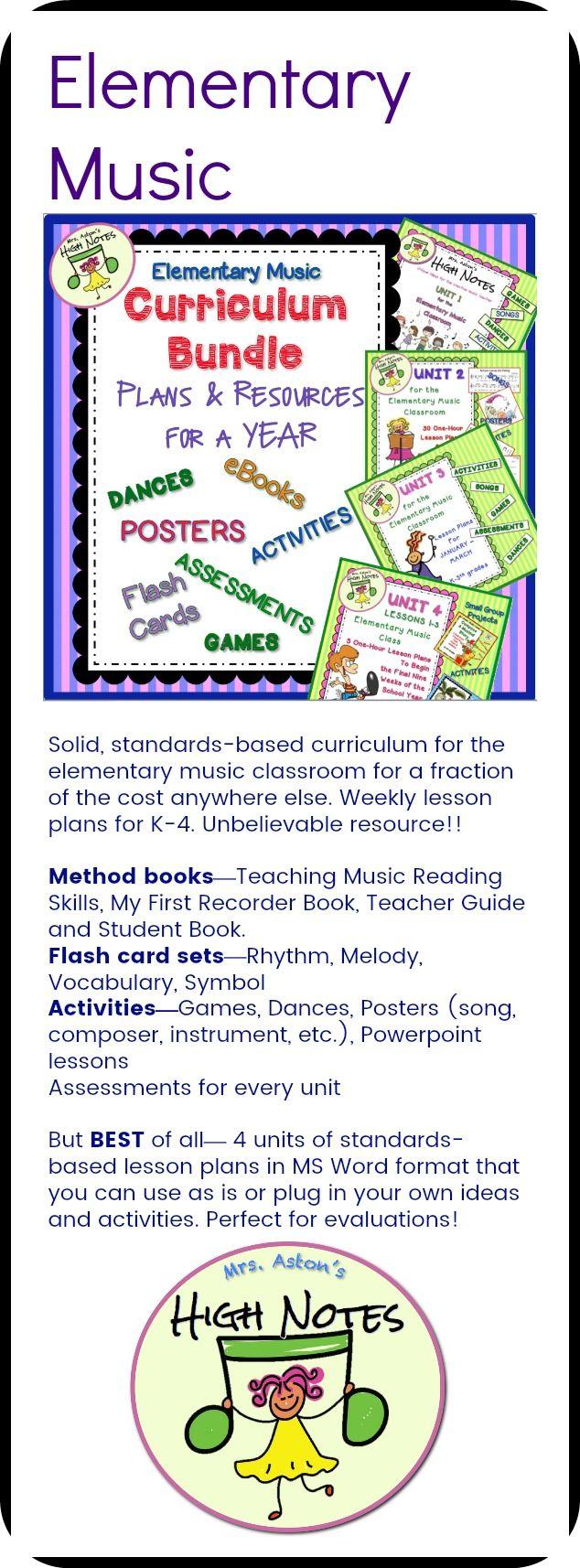 17 Best Units For Elementary Music Images On Pinterest