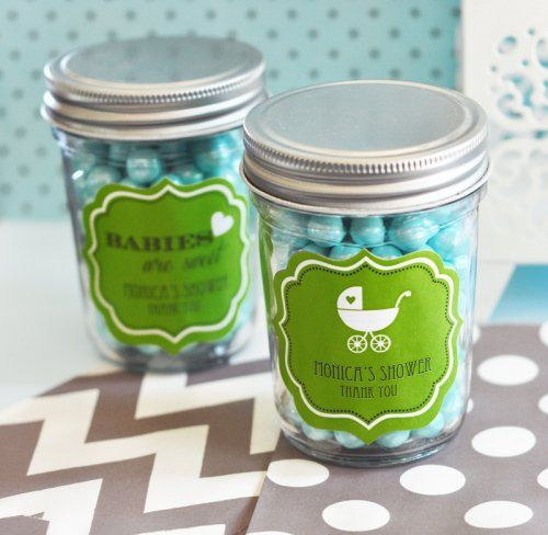 personalized baby shower mini mason jars