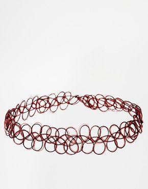 Vergrößern ASOS – Collier-Halskette mit 90er-Tattoo