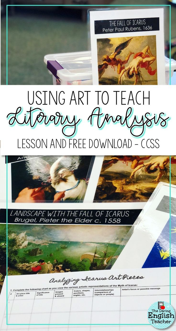 Using Art To Teach And Analyze Literature Arts And Crafts For