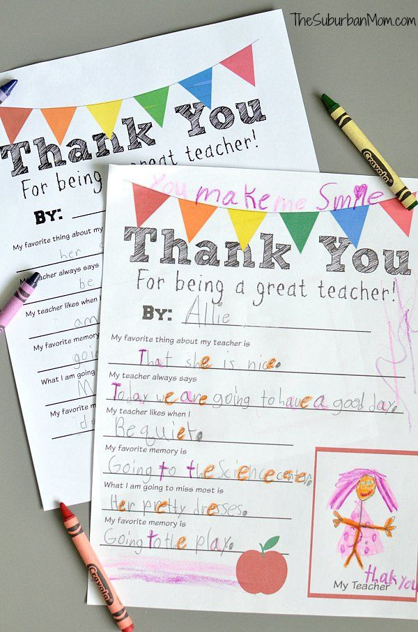 Classroom Thank You Ideas ~ Best classroom thank you cards and ideas images on