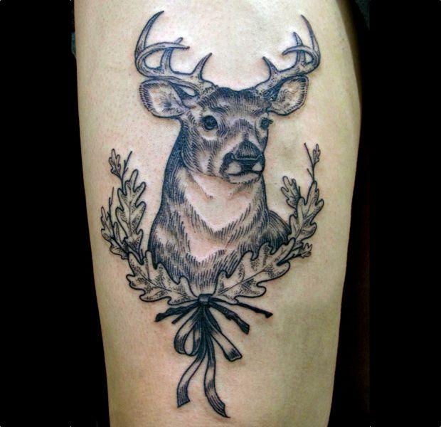 Deer Tattoo by Stephanie Brown